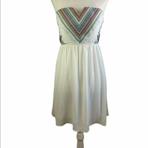 Poetry Summer Dress White Size Small Strapless